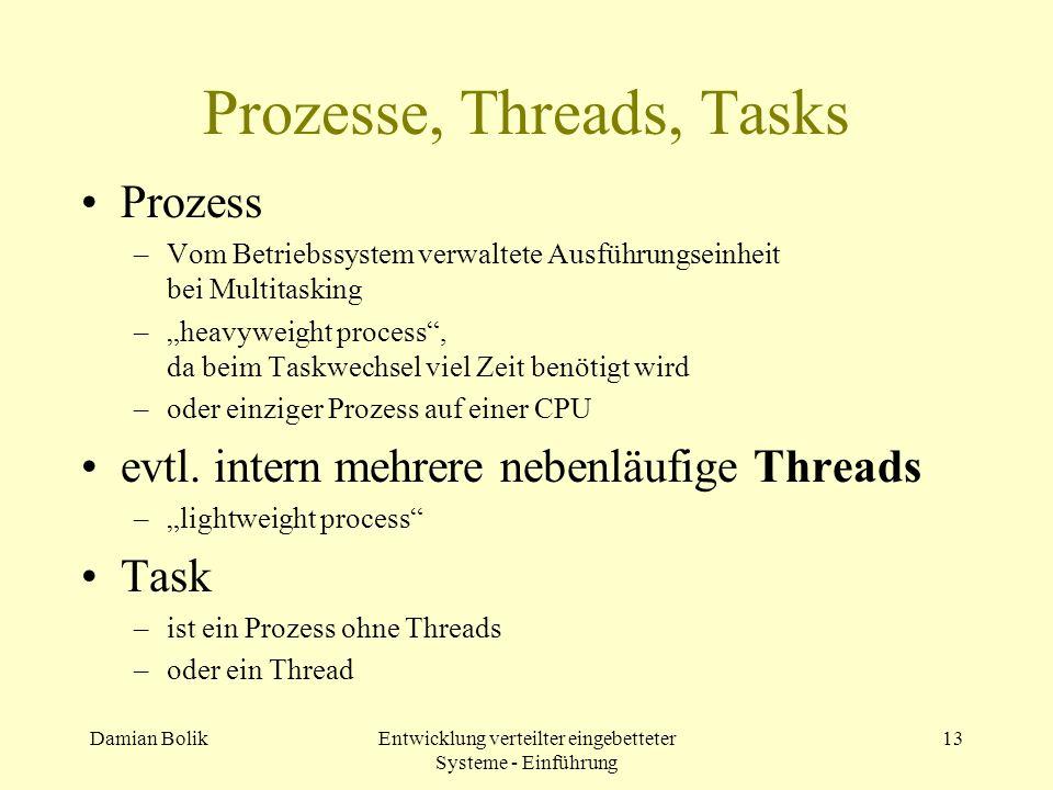 Prozesse, Threads, Tasks