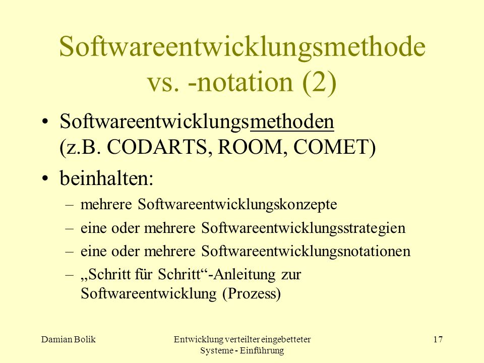 Softwareentwicklungsmethode vs. -notation (2)