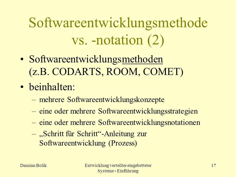 Softwareentwicklungsmethode vs. -notation (2)