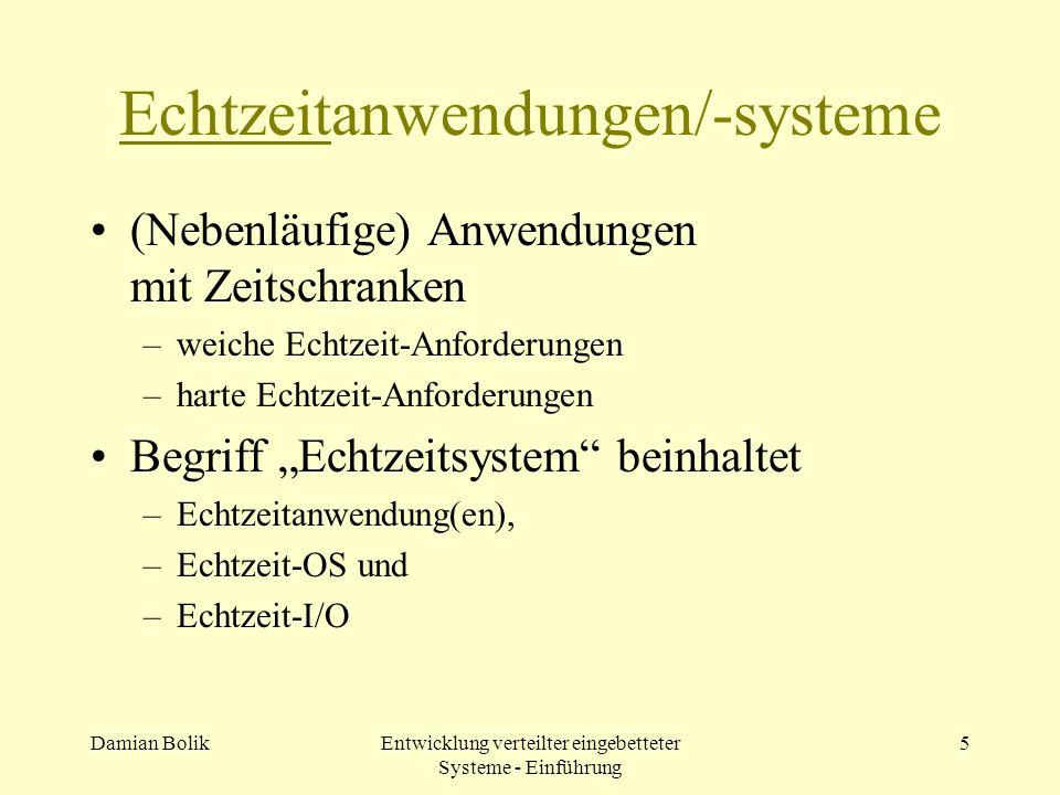 Echtzeitanwendungen/-systeme