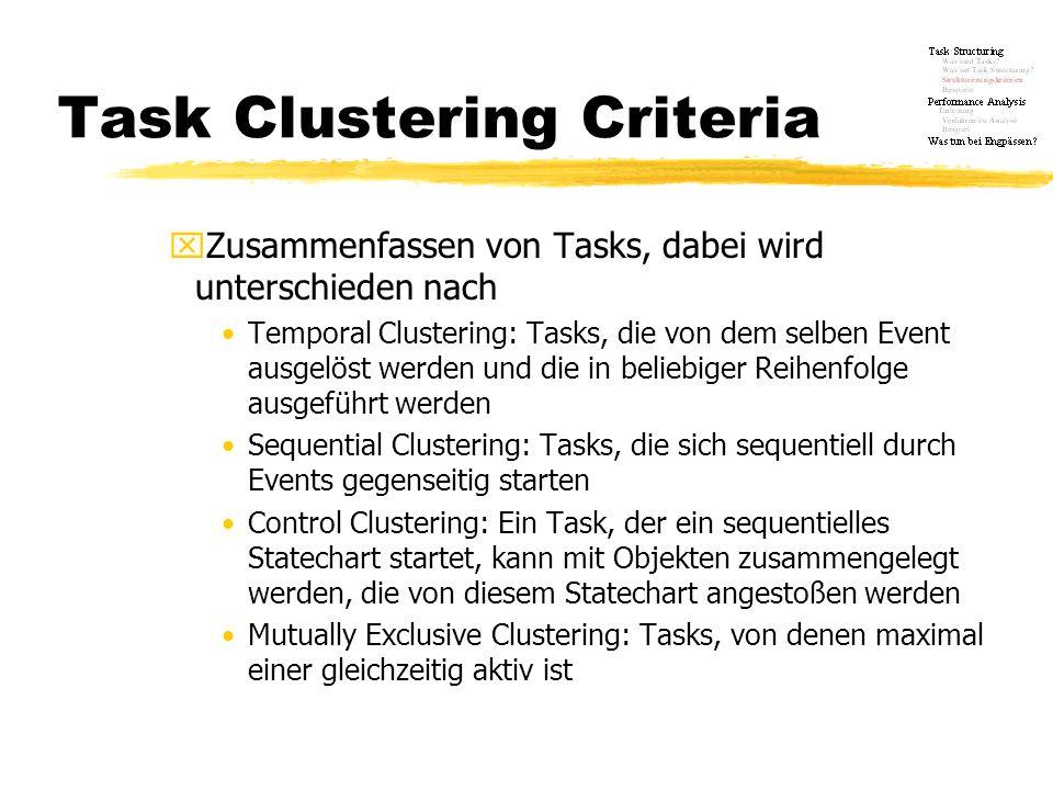 Task Clustering Criteria