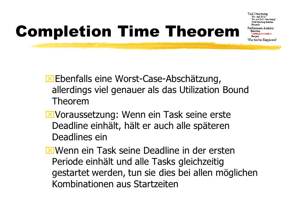 Completion Time Theorem