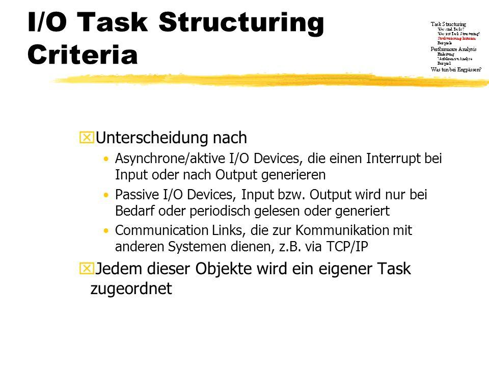 I/O Task Structuring Criteria