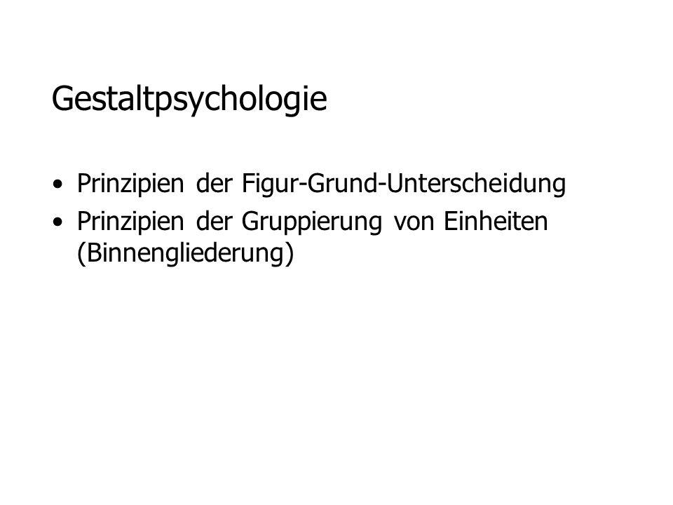 Gestaltpsychologie Prinzipien der Figur-Grund-Unterscheidung