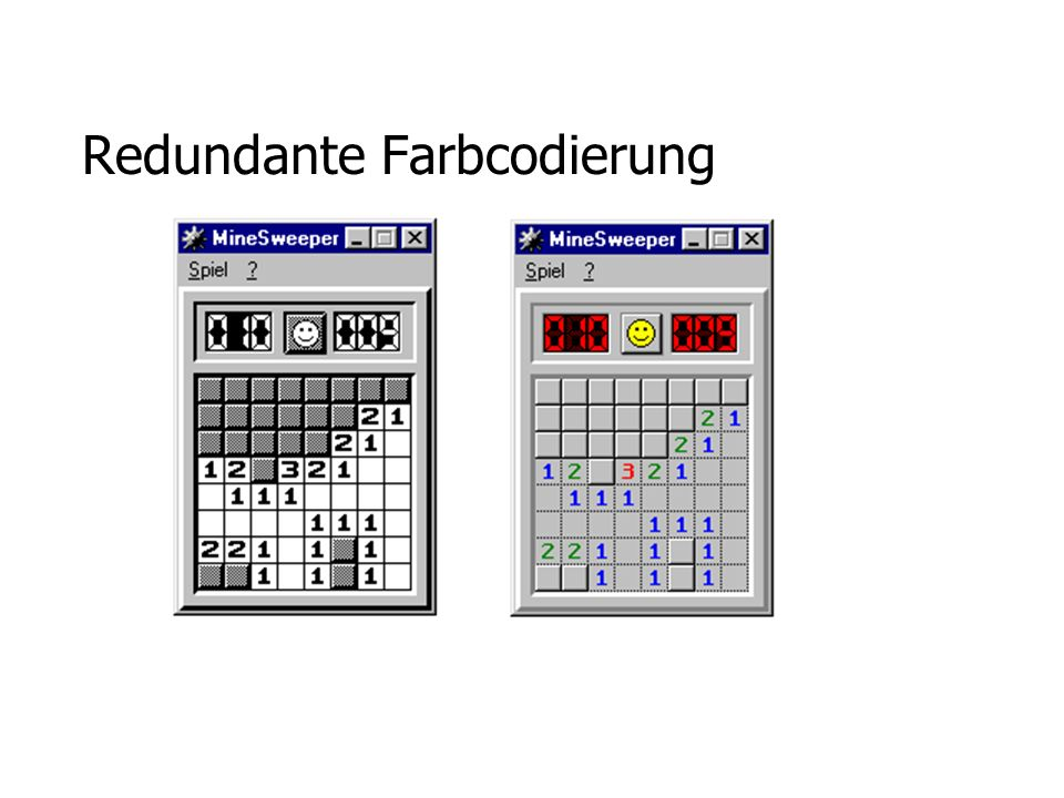 Redundante Farbcodierung