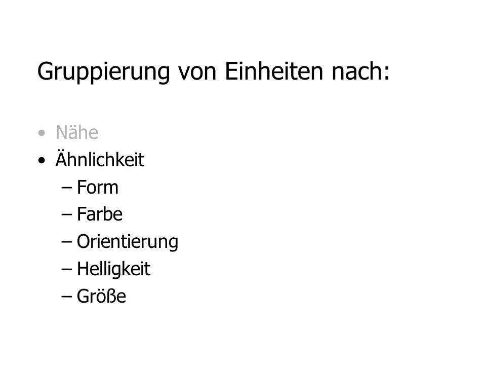 Gruppierung von Einheiten nach: