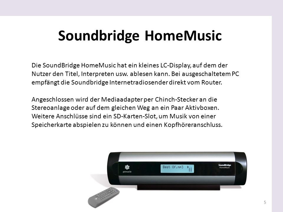 Soundbridge HomeMusic