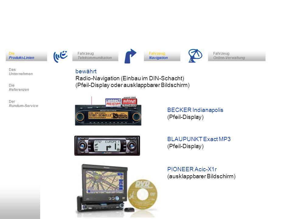 Radio-Navigation (Einbau im DIN-Schacht)