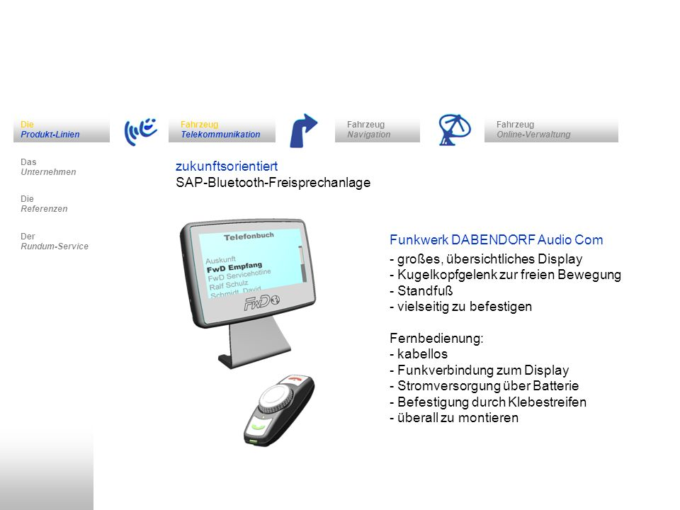 SAP-Bluetooth-Freisprechanlage