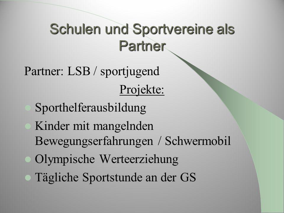 Schulen und Sportvereine als Partner