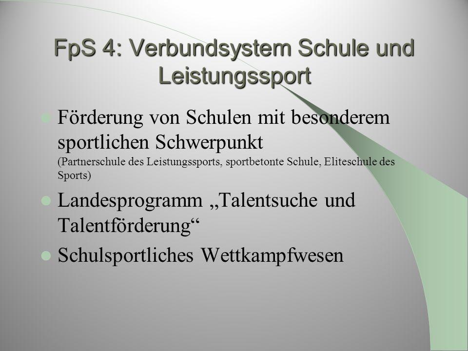 FpS 4: Verbundsystem Schule und Leistungssport
