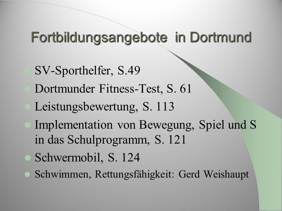 Fortbildungsangebote in Dortmund
