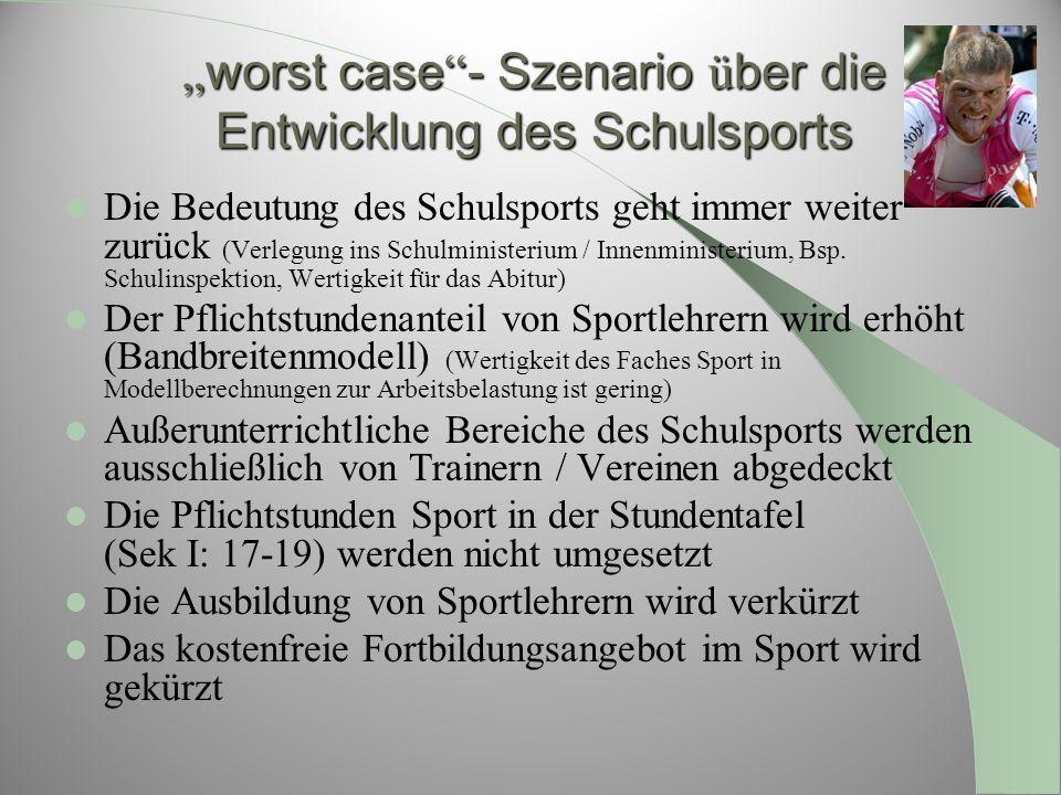 """""""worst case - Szenario über die Entwicklung des Schulsports"""