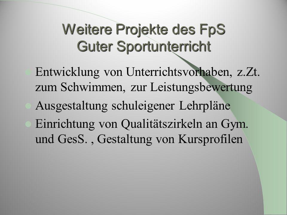 Weitere Projekte des FpS Guter Sportunterricht