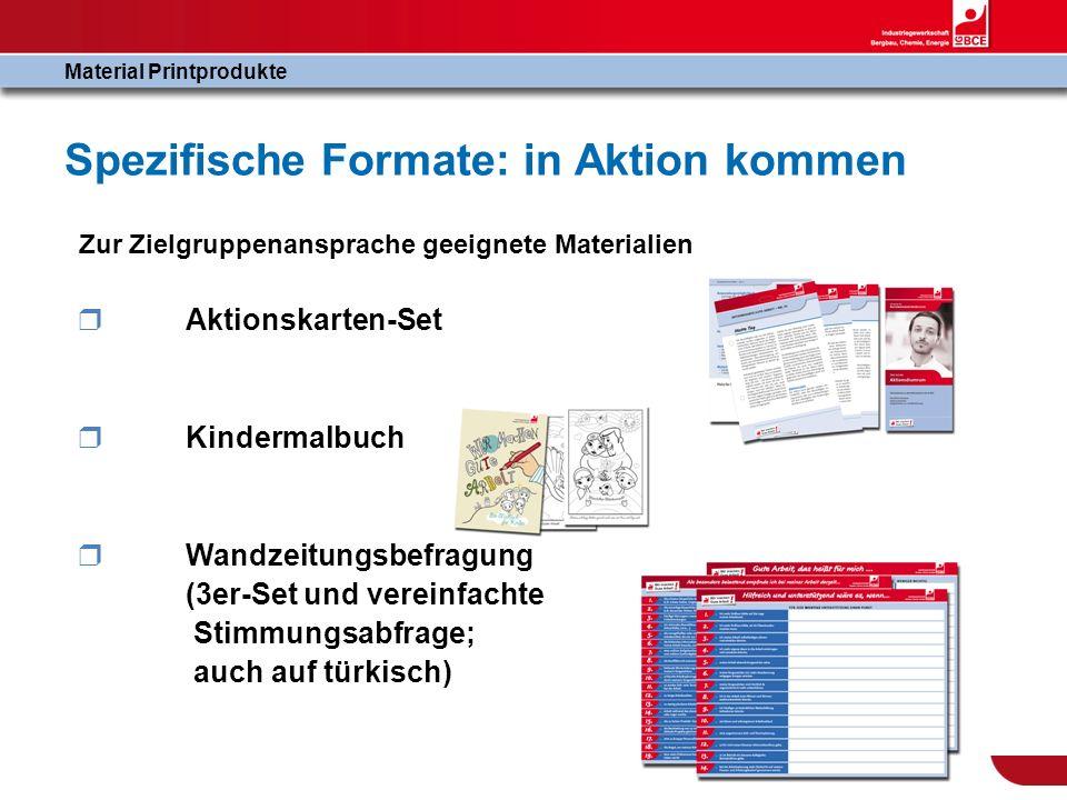 Spezifische Formate: in Aktion kommen