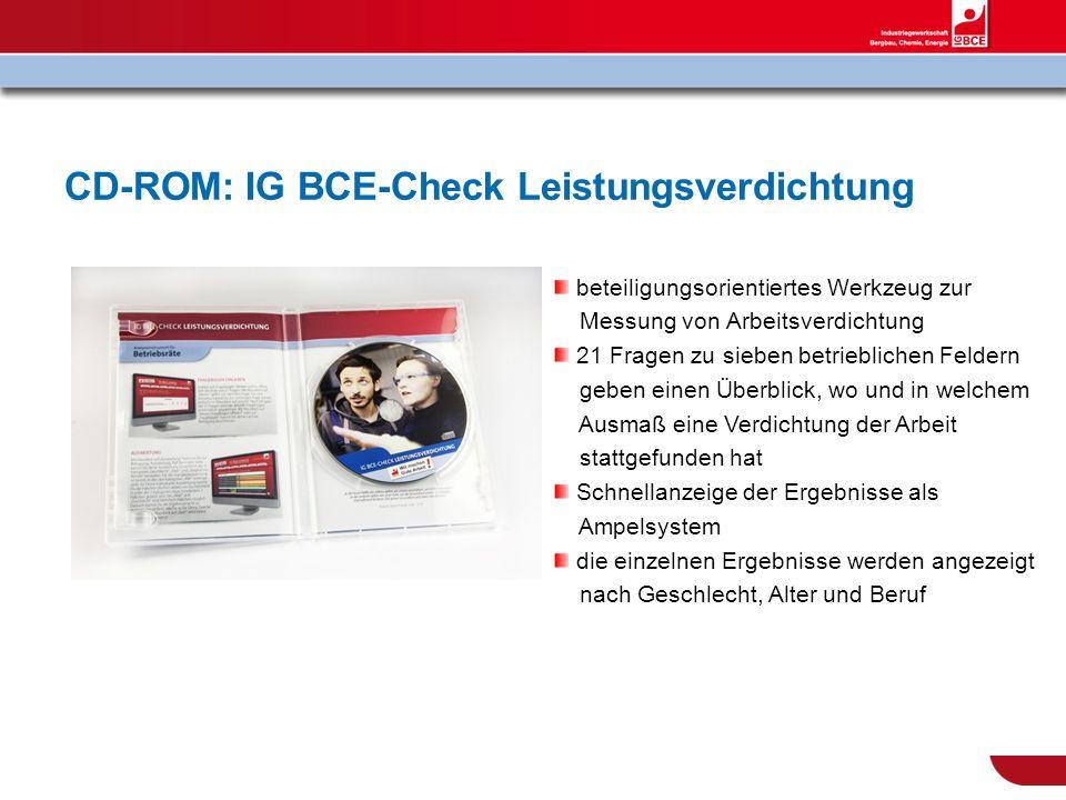 CD-ROM: IG BCE-Check Leistungsverdichtung