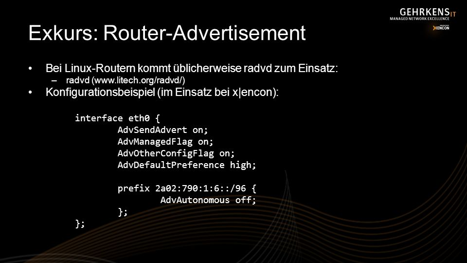 Exkurs: Router-Advertisement