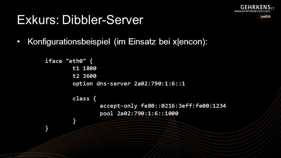 Exkurs: Dibbler-Server