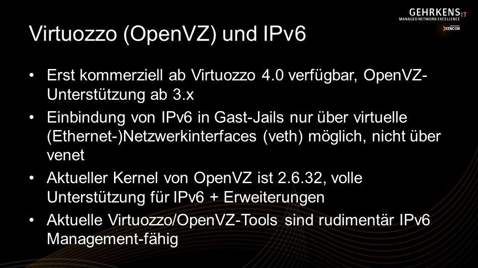 Virtuozzo (OpenVZ) und IPv6