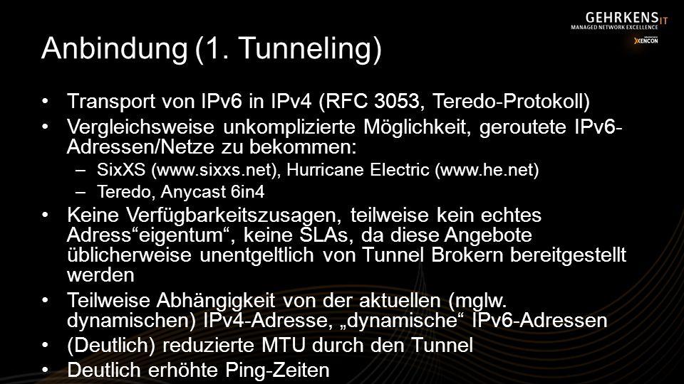 Anbindung (1. Tunneling)