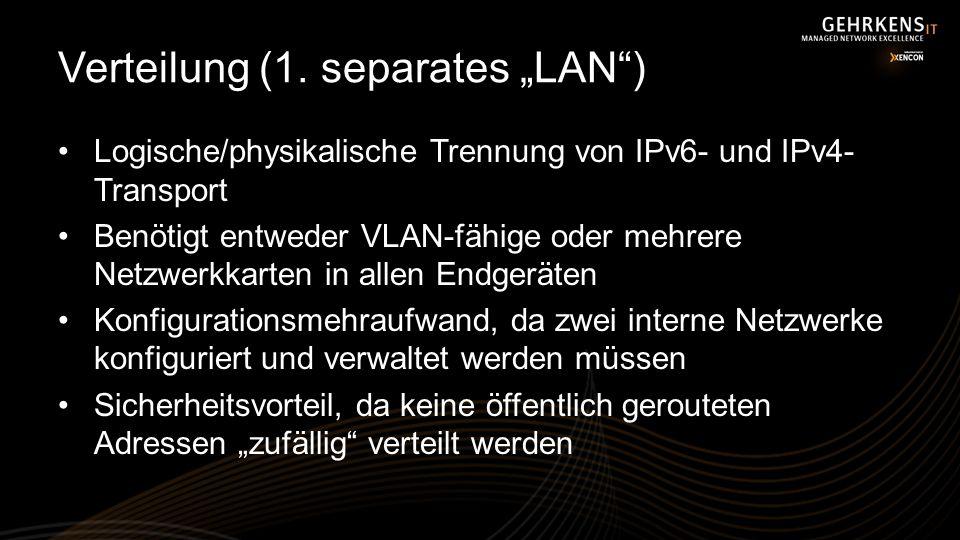 "Verteilung (1. separates ""LAN )"