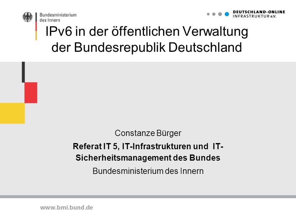 IPv6 in der öffentlichen Verwaltung der Bundesrepublik Deutschland