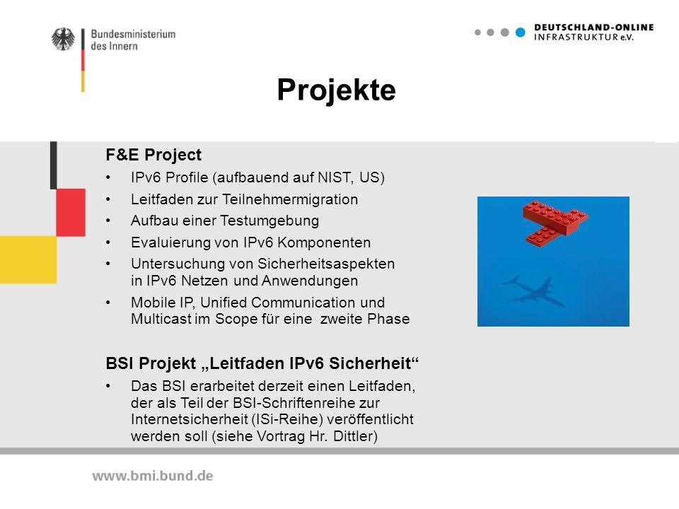 """Projekte F&E Project BSI Projekt """"Leitfaden IPv6 Sicherheit"""