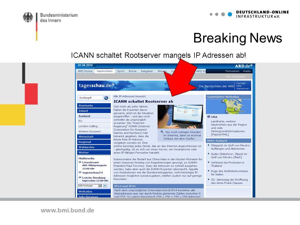 Breaking News ICANN schaltet Rootserver mangels IP Adressen ab! 3