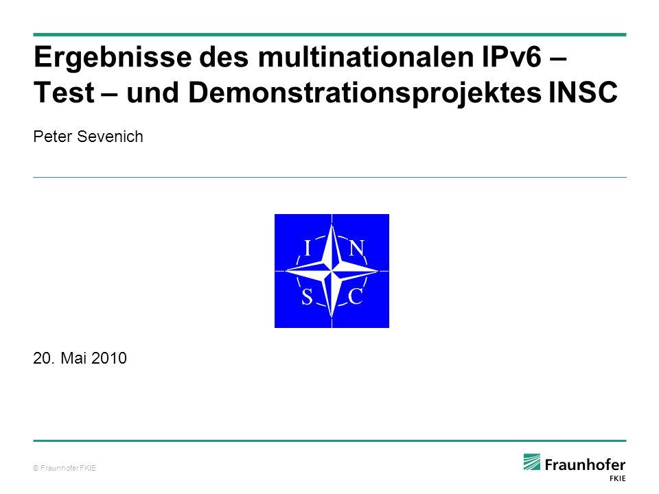 Ergebnisse des multinationalen IPv6 – Test – und Demonstrationsprojektes INSC