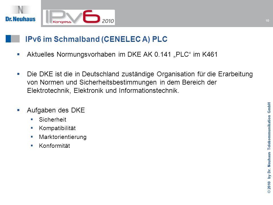 IPv6 im Schmalband (CENELEC A) PLC