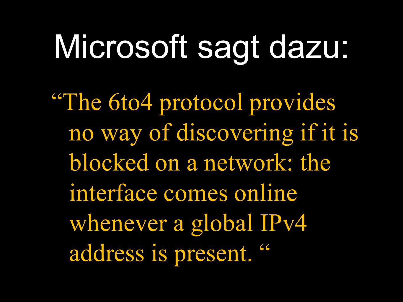 Microsoft sagt dazu: