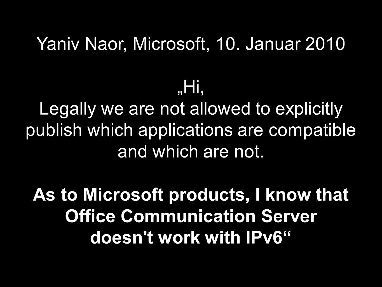 Yaniv Naor, Microsoft, 10.