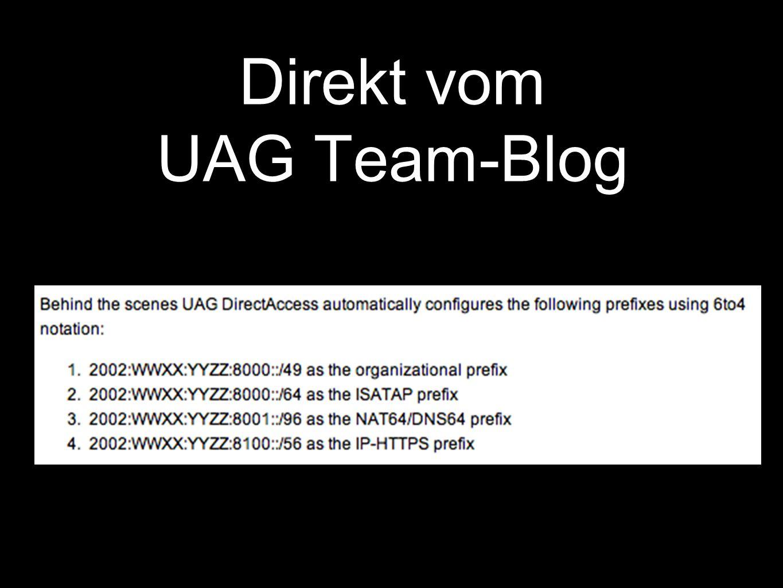 Direkt vom UAG Team-Blog