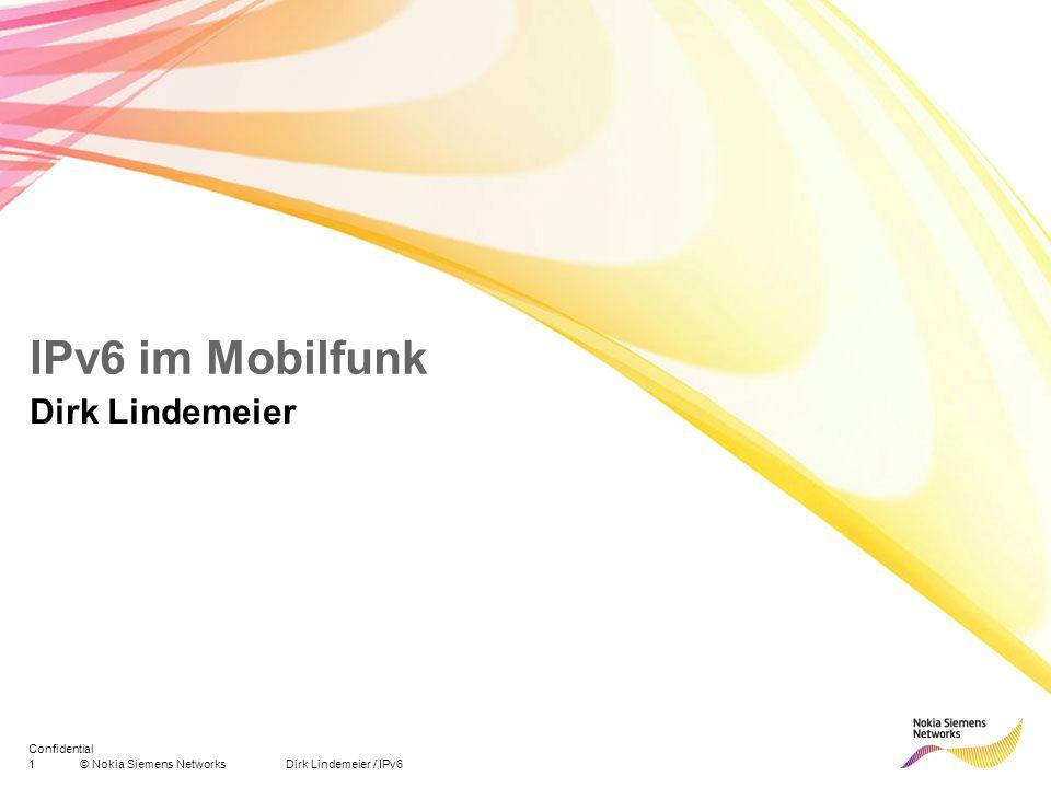 IPv6 im Mobilfunk Dirk Lindemeier