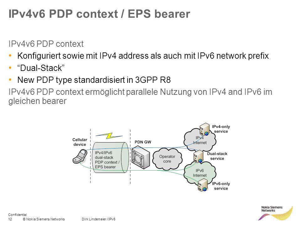 IPv4v6 PDP context / EPS bearer