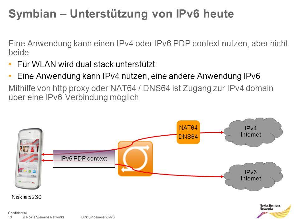 Symbian – Unterstützung von IPv6 heute