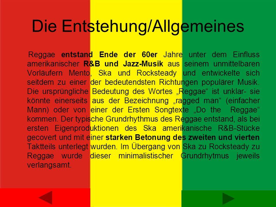 Die Entstehung/Allgemeines