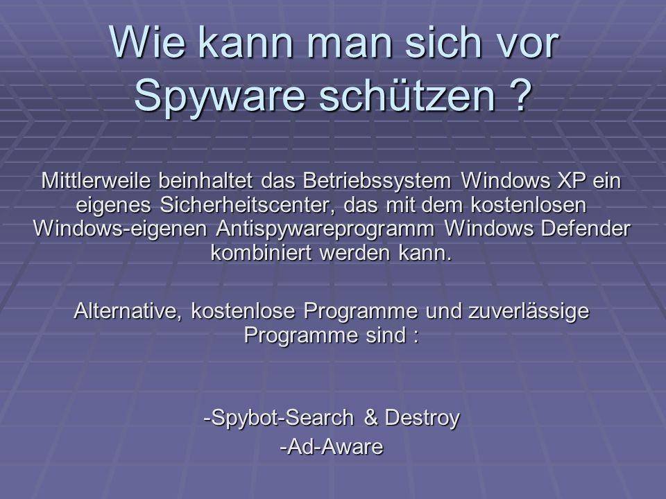 Wie kann man sich vor Spyware schützen