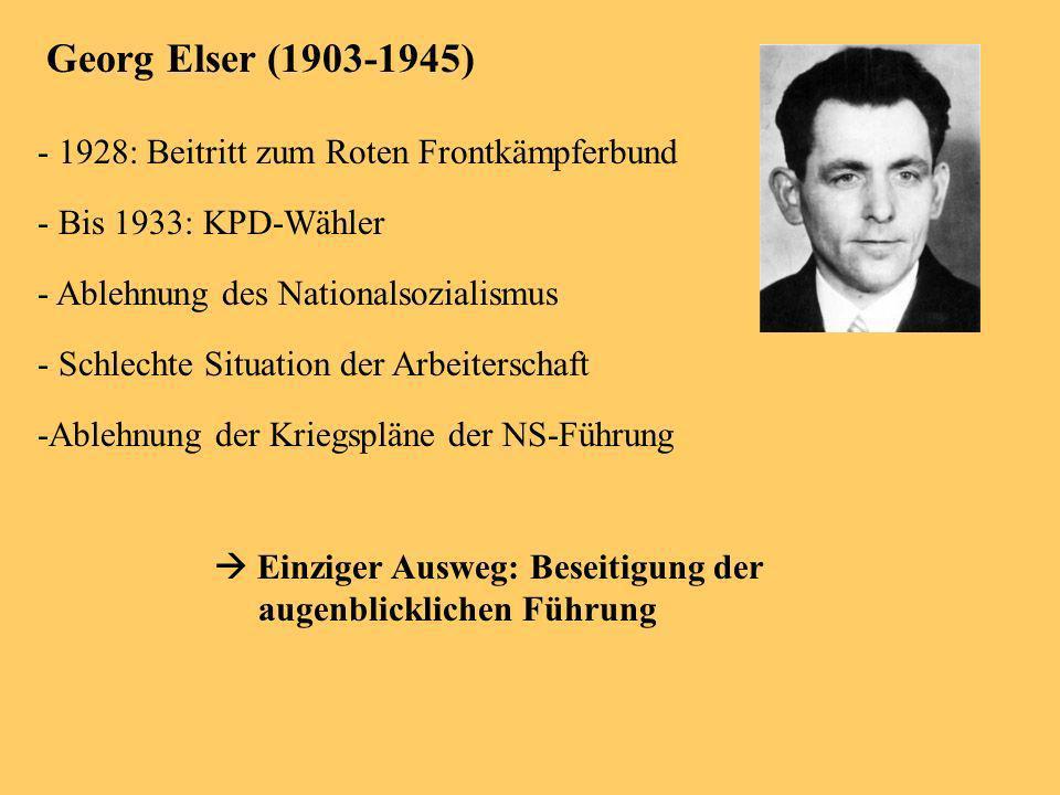 Georg Elser (1903-1945) - 1928: Beitritt zum Roten Frontkämpferbund