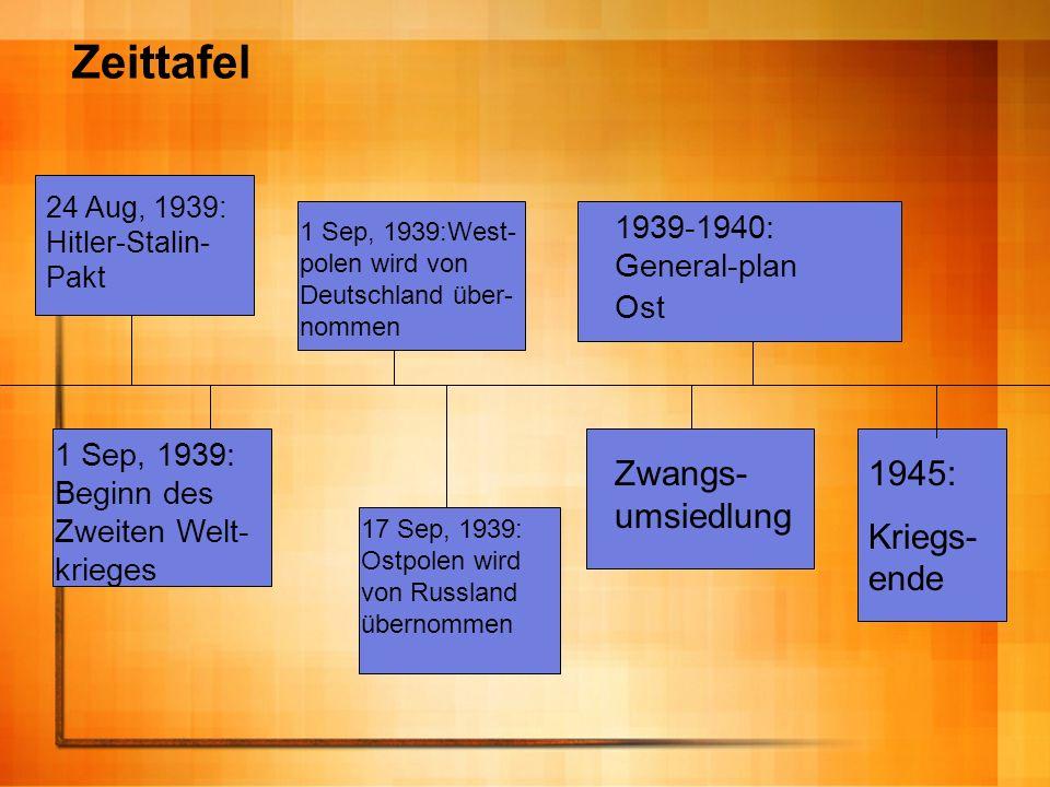 Zeittafel Zwangs-umsiedlung 1945: Kriegs-ende