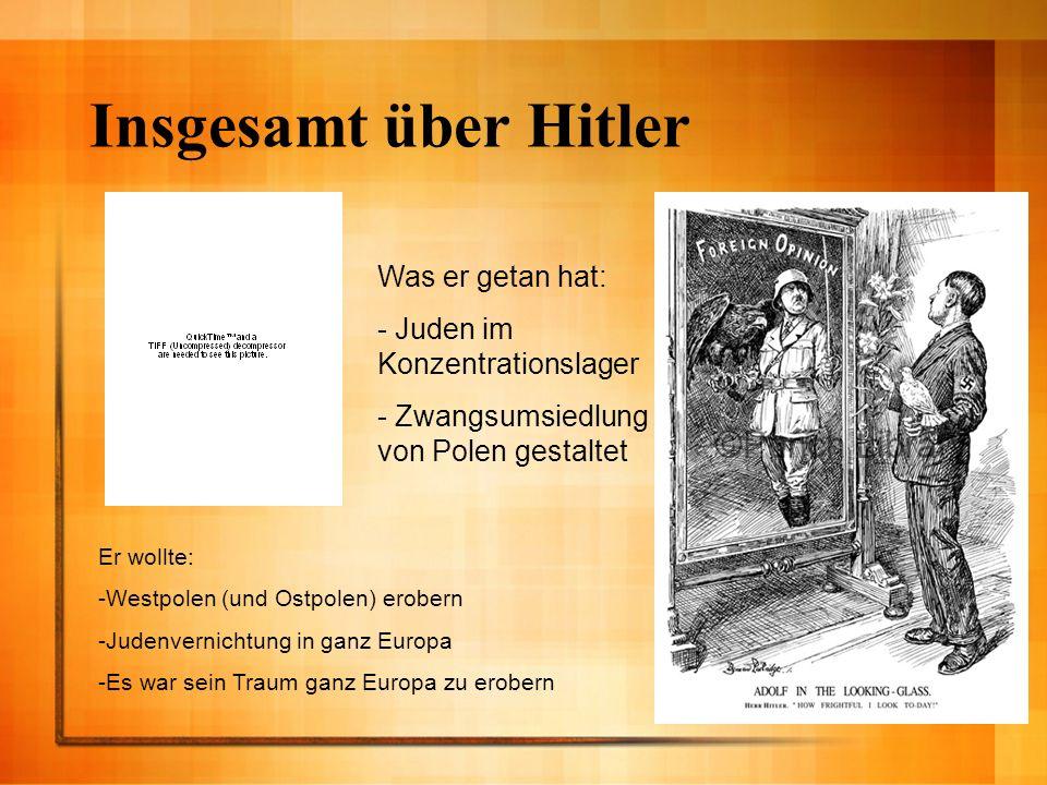 Insgesamt über Hitler Was er getan hat: - Juden im Konzentrationslager