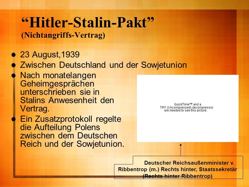 Hitler-Stalin-Pakt (Nichtangriffs-Vertrag)
