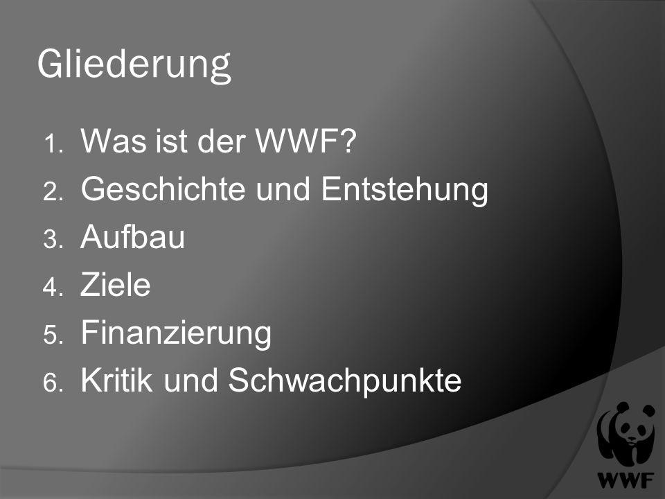 Gliederung Was ist der WWF Geschichte und Entstehung Aufbau Ziele
