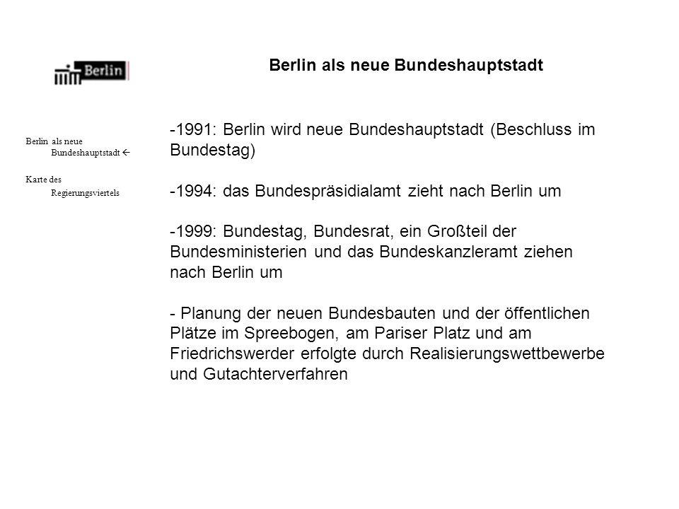 Berlin als neue Bundeshauptstadt
