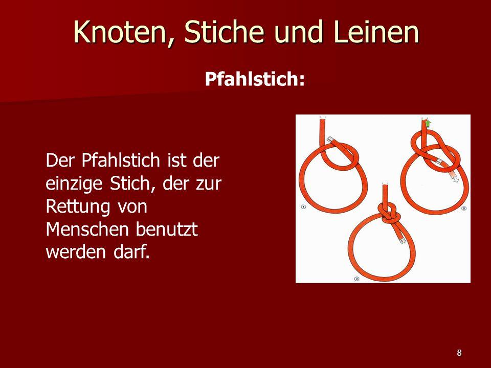 Knoten, Stiche und Leinen