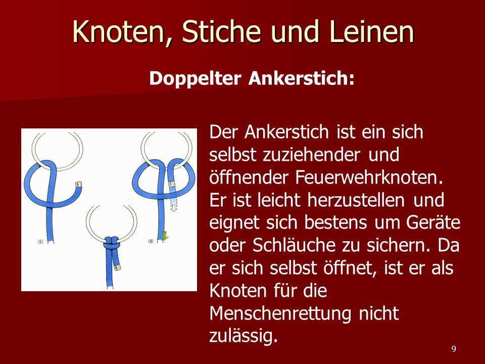 Doppelter Ankerstich: