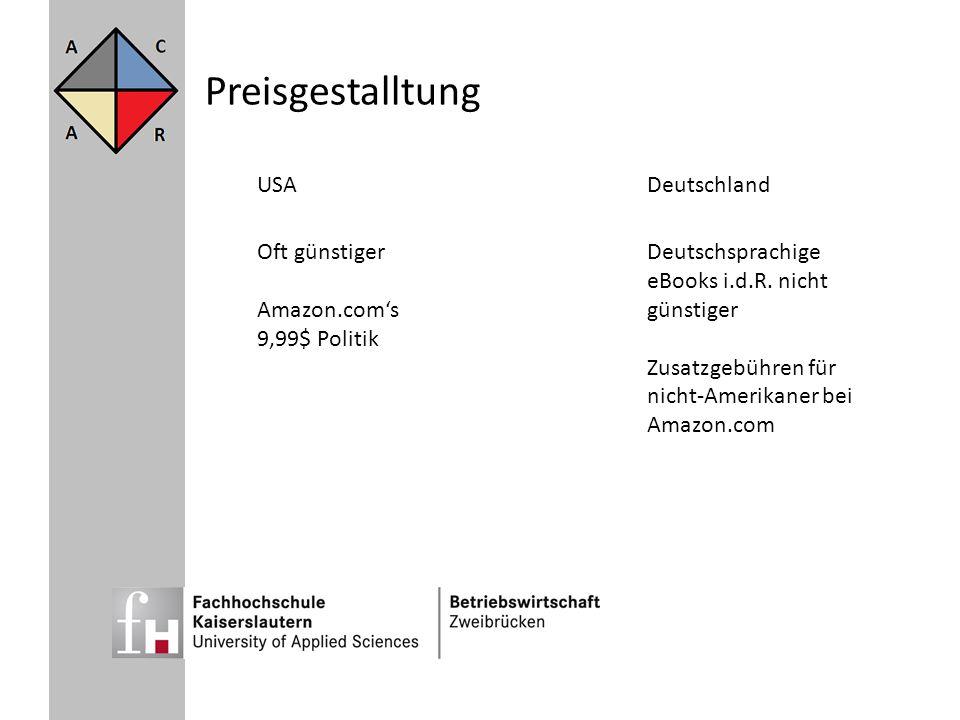 Preisgestalltung USA Deutschland Oft günstiger Amazon.com's