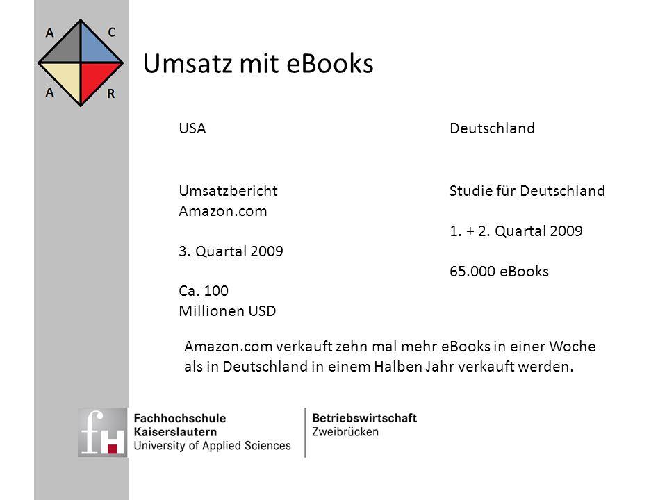 Umsatz mit eBooks USA Deutschland Umsatzbericht Amazon.com