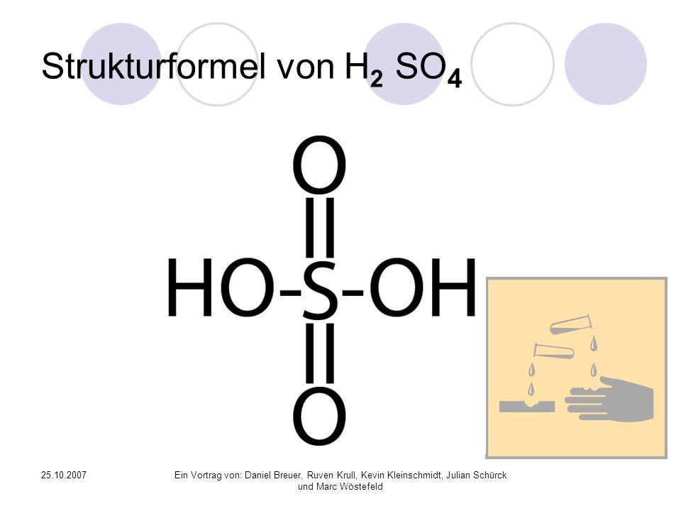 Strukturformel von H2 SO4