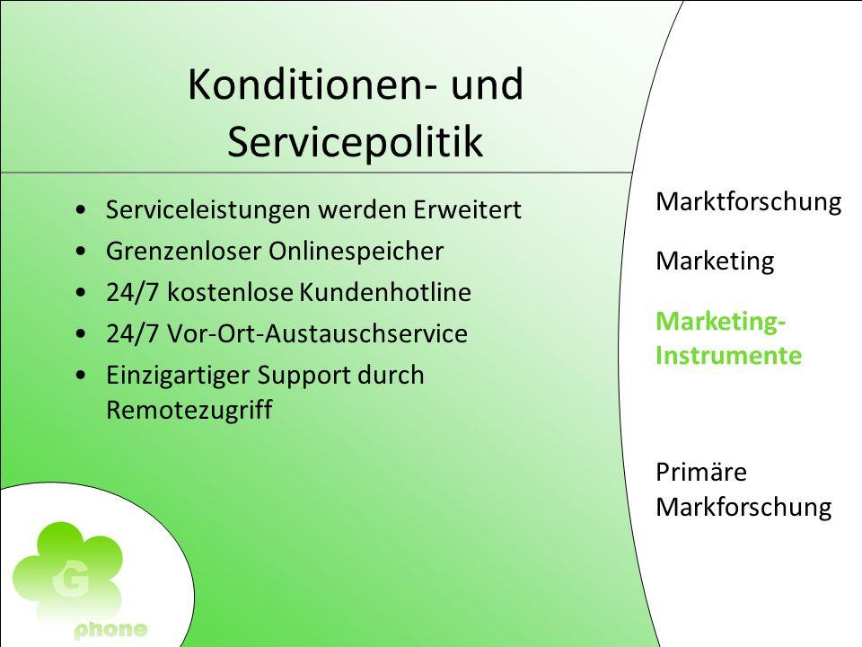 Konditionen- und Servicepolitik